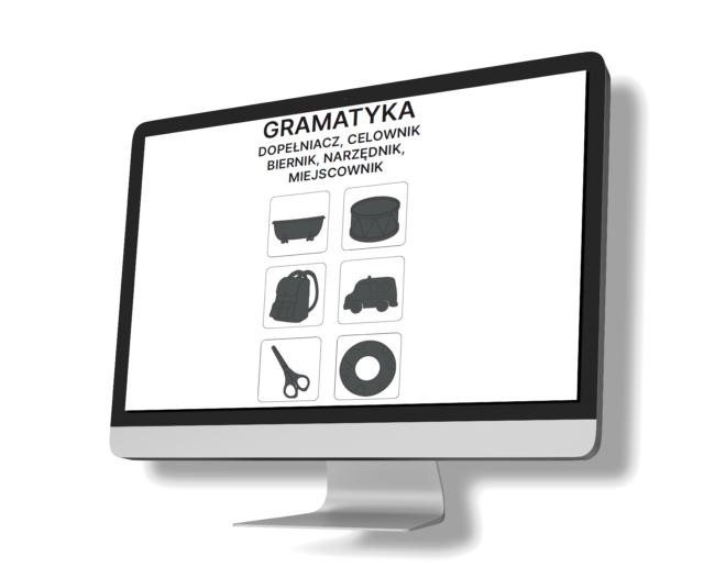 Gramatyka, pięć przypadków grafika do produktu